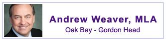 Andrew Weaver, MLA